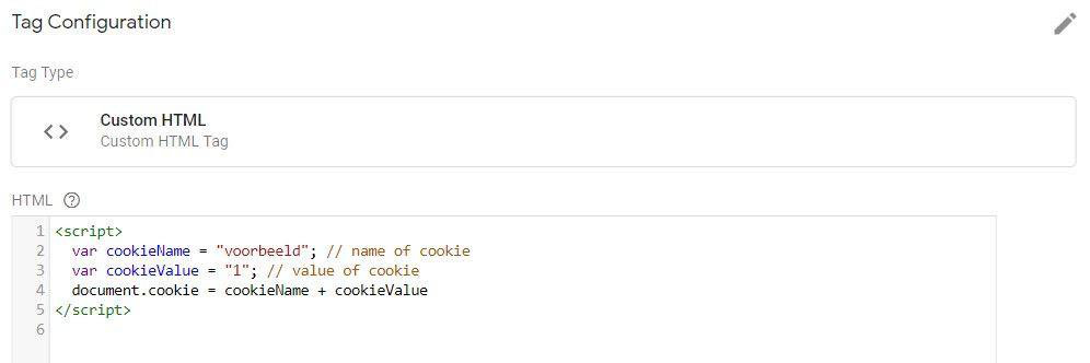 Cookie script - Google Tag Manager